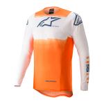 Alpinestars Cross Shirt 2022 Supertech Foster - Wit / Oranje / Blauw