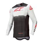 Alpinestars Cross Shirt 2022 Supertech Foster - Wit / Zwart / Fluo Rood