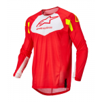 Alpinestars Cross Shirt 2022 Techstar Factory - Fluo Rood / Wit / Fluo Geel