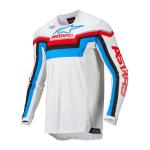 Alpinestars Cross Shirt 2022 Techstar Quadro - Off Wit / Blauw / Rood