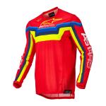Alpinestars Cross Shirt 2022 Techstar Quadro - Rood / Fluo Geel / Blauw