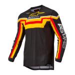 Alpinestars Cross Shirt 2022 Techstar Quadro - Zwart / Geel / Tangerine