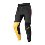 Alpinestars Crossbroek 2022 Supertech Blaze - Zwart / Geel / Fluo Rood