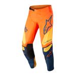 Alpinestars Crossbroek 2022 Techstar Factory - Oranje / Blauw / Geel