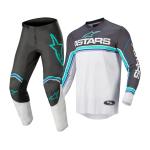 Alpinestars Crosskleding 2022 Fluid Speed - Antraciet / Grijs / Blauw