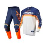 Alpinestars Crosskleding 2022 Fluid Speed - Blauw / Wit / Oranje