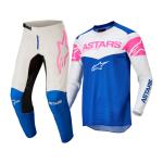 Alpinestars Crosskleding 2022 Fluid Triple - Blauw / Wit / Fluo Roze