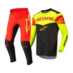 Alpinestars Crosskleding 2022 Fluid Triple - Zwart / Fluo Geel / Fluo Rood