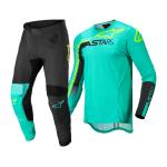 Alpinestars Crosskleding 2022 Supertech Blaze - Groen / Zwart / Fluo Geel