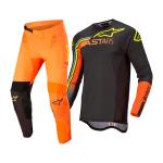 Alpinestars Crosskleding 2022 Supertech Blaze - Zwart / Oranje / Fluo Geel