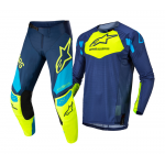 Alpinestars Crosskleding 2022 Techstar Factory - Blauw / Fluo Geel