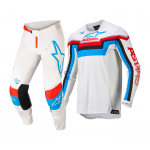 Alpinestars Crosskleding 2022 Techstar Quadro - Off Wit / Blauw / Rood