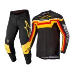 Alpinestars Crosskleding 2022 Techstar Quadro - Zwart / Geel / Tangerine
