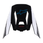Alpinestars Helmklep S-M5 Bond - Zwart / Rood / Cyan / Zilver