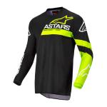 Alpinestars Kinder Cross Shirt 2022 Racer Chaser - Zwart / Fluo Geel