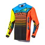 Alpinestars Kinder Cross Shirt 2022 Racer Compass - Zwart / Fluo Geel / Coral