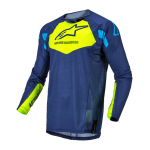 Alpinestars Kinder Cross Shirt 2022 Racer Factory - Blauw / Fluo Geel