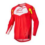 Alpinestars Kinder Cross Shirt 2022 Racer Factory - Fluo Rood / Wit / Fluo Geel