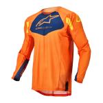 Alpinestars Kinder Cross Shirt 2022 Racer Factory - Oranje / Blauw / Geel