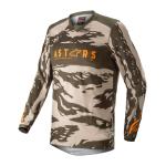 Alpinestars Kinder Cross Shirt 2022 Racer Tactical - Sand / Camo / Tangerine