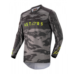 Alpinestars Kinder Cross Shirt 2022 Racer Tactical - Zwart / Grijs / Camo / Fluo Geel