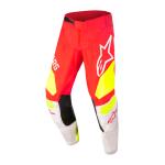 Alpinestars Kinder Crossbroek 2022 Racer Factory - Fluo Rood / Wit / Fluo Geel
