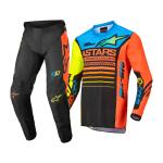Alpinestars Kinder Crosskleding 2022 Racer Compass - Zwart / Fluo Geel / Coral