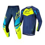 Alpinestars Kinder Crosskleding 2022 Racer Factory - Blauw / Fluo Geel