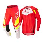 Alpinestars Kinder Crosskleding 2022 Racer Factory - Fluo Rood / Wit / Fluo Geel