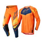 Alpinestars Kinder Crosskleding 2022 Racer Factory - Oranje / Blauw / Geel