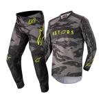 Alpinestars Kinder Crosskleding 2022 Racer Tactical - Zwart / Grijs / Camo / Fluo Geel