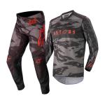 Alpinestars Kinder Crosskleding 2022 Racer Tactical - Zwart / Grijs / Camo / Fluo Rood
