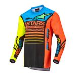 Alpinestars Mini Cross Shirt 2022 Racer Compass - Zwart / Fluo Geel / Coral