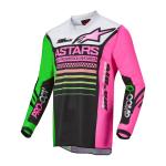 Alpinestars Mini Cross Shirt 2022 Racer Compass - Zwart / Groen / Fluo Roze