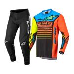 Alpinestars Mini Crosskleding 2022 Racer Compass - Zwart / Fluo Geel / Coral