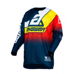 Answer Cross Shirt 2020 Elite Korza - Midnight / Wit / Pro Geel / Rood