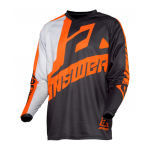 Answer Kinder Cross Shirt 2020 Syncron Voyd - Charcoal / Grijs / Oranje