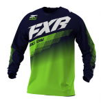 FXR Cross Shirt 2021 Clutch - Midnight / Lime