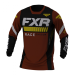 FXR Cross Shirt 2021 Revo - Zwart / Rust / Goud