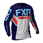 FXR Cross Shirt Off-Road 2021 Podium - Licht Grijs / Navy / Nuke / Sky