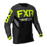 FXR Cross Shirt Off-Road 2021 Podium - Zwart / Charcoal / Hi-Vis