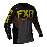 FXR Cross Shirt Off-Road 2021 Podium - Zwart / Charcoal / Rust / Goud