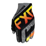 FXR Crosshandschoenen 2021 Slip-On Lite - Grijs Aztec / Zwart / Rood / Hi-Vis
