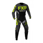 FXR Crosskleding Off-Road 2021 Podium - Zwart / Charcoal / Hi-Vis