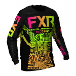 FXR Kinder Cross Shirt 2021 Podium - Sherbert Aztec