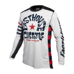 Fasthouse Cross Shirt 2019 Funkhouse - Wit