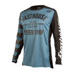 Fasthouse Cross Shirt 2019 Speed Shop L1 - Slate Blauw