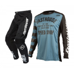 Fasthouse Kinder Crosskleding Speed Shop L1 - Slate Blauw / Zwart