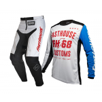 Fasthouse Crosskleding 2020 Worx 68 - Wit / Blauw / Rood