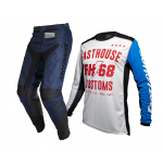 Fasthouse Crosskleding 2020 Worx 68 - Wit / Navy